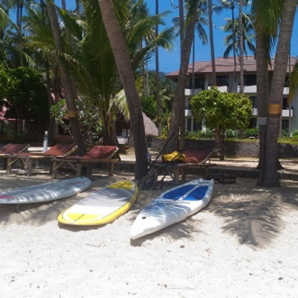 Stand up paddleboard and windsurf in samui at Lipanoi lovely resort beach