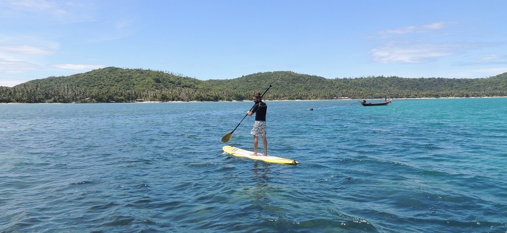 koh samui sup paddleboard and yoga thailand