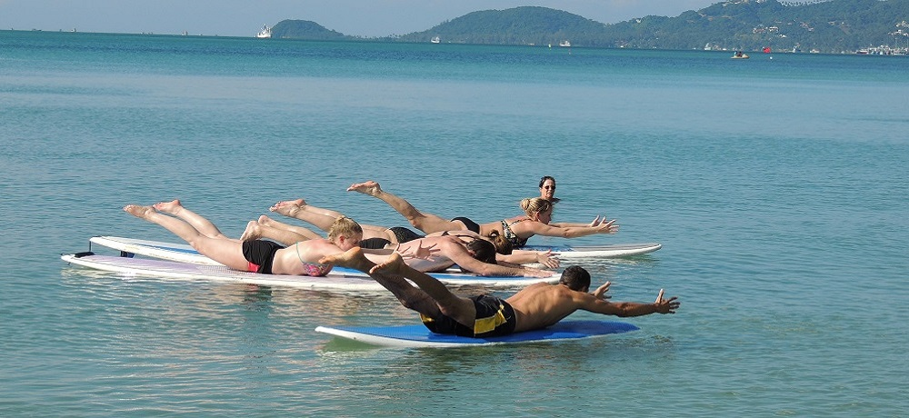 sup surf paddleboard in samui